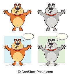 Bulldog Cartoon Character Collection - 1