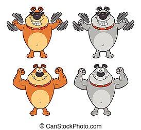 Bulldog Cartoon Character Collection - 2