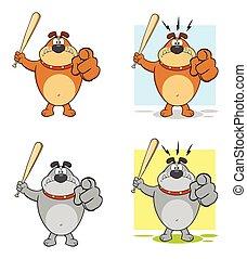 Bulldog Cartoon Character Collection - 3