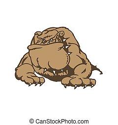 Bulldog cartoon character