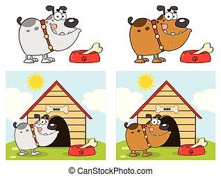 Bulldog Cartoon Mascot Character Set 2. Collection