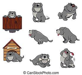 Bulldog Character set collection