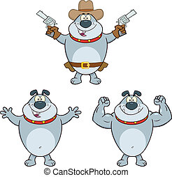 Bulldog Characters 4 Collection