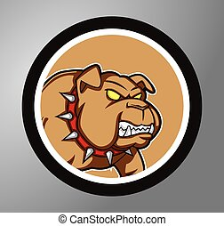Bulldog Circle sticker