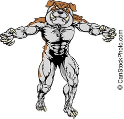 Bulldog claws out