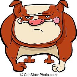 bulldog dog cartoon animal character