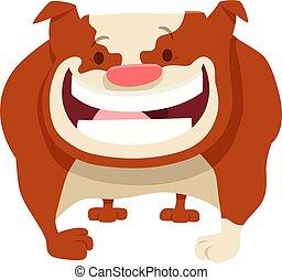 bulldog dog cartoon comic character