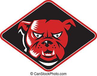 bulldog dog head