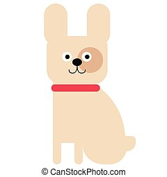 Bulldog flat illustration