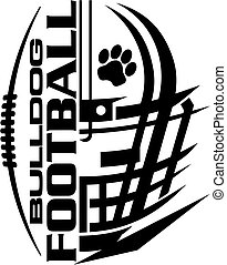 bulldog football team design with helmet and facemask for school, college or league
