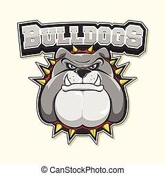 bulldog logo illustration design