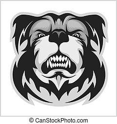 Bulldog Mascot Cartoon Face