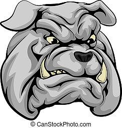 Bulldog mascot character