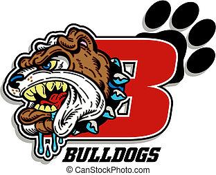 bulldog mascot design