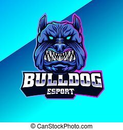 Bulldog mascot logo design. perfect for team,community, or club