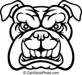 Bulldog Mean Sports Mascot