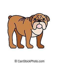 bulldog pet mascot breed character