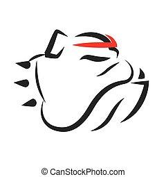 Bulldog Portrait Vector Mascot