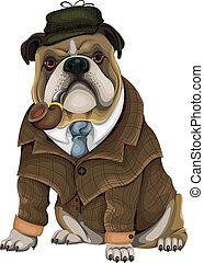 Bulldog Sherlock vector