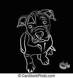 bulldog silhouette