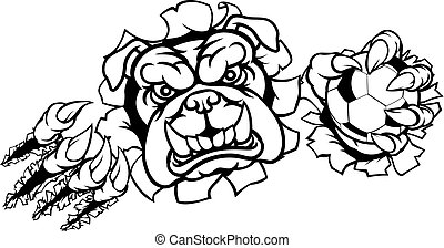 Bulldog Soccer Football Mascot