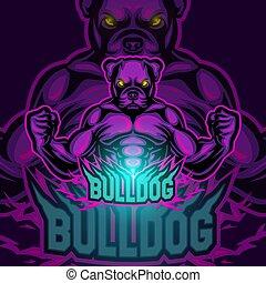 Bulldog sport mascot logo design