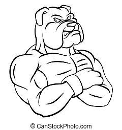 bulldog strong mascot