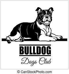 Bulldog - vector illustration for t-shirt, logo and template badges