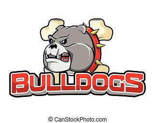 bulldogs banner illustration design