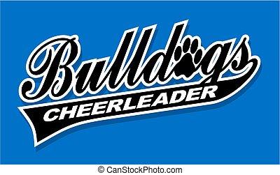 bulldogs cheerleader
