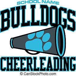 bulldogs cheerleading design