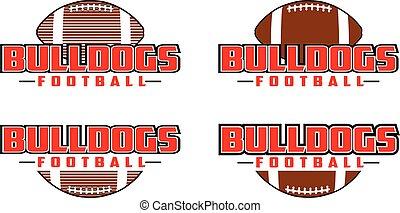 Bulldogs Football Design