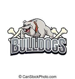 bulldogs illustration design