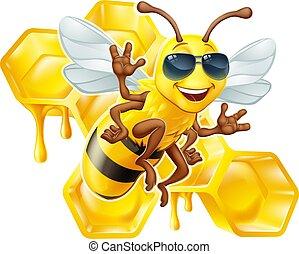 Bumble Bee Honey Honeycomb Sunglasses Bumblebee