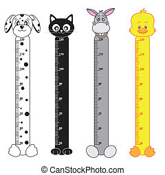 Bumper children meter wall. Animals Stickers