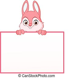 Bunny with sign