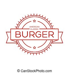 Burger vintage stamp sign