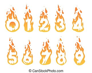 Burning numbers illustration