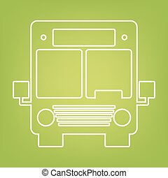 Bus line icon on green background