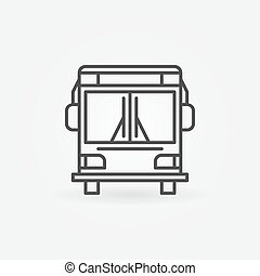 Bus linear icon