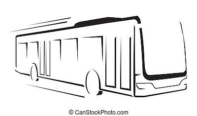 Bus Symbol Vector Illustration