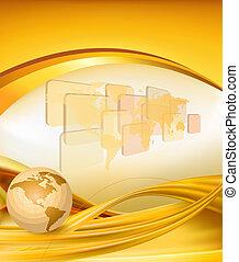 Business elegant gold background