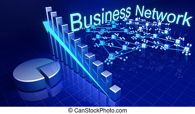 Business financial growth and network concept