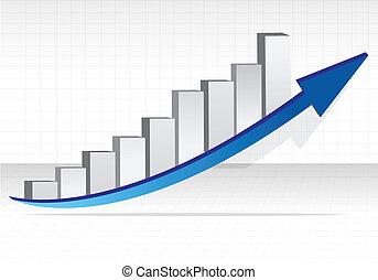 Business graph. Business success illustration design