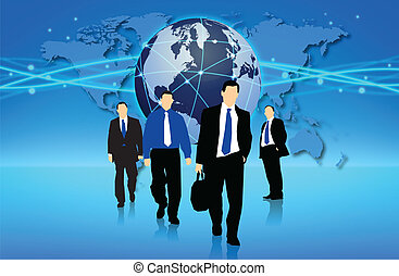 Management team into action in an international business