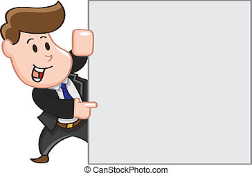 business man pointing copy space
