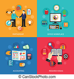 Business office work concept