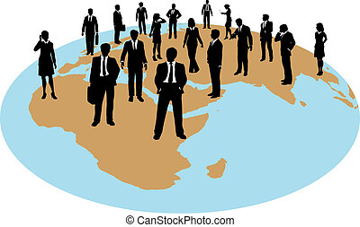 Business people global work force resources