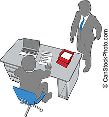 Business people human resources office evaluation