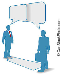 Business people talk meet connect communication